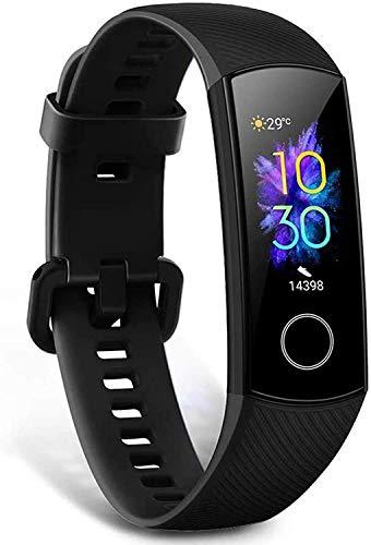 HONOR Band 5 Smartwatch Fitness Tracker Monitorowanie SpO2, Tętno i Sen 24/7, Wyświetlacz Dotykowy AMOLED 0,95 Cala, Zakrzywiony Ekran 2.5D, Sportowy Monitor Aktywności, Czarny (HONOR Band 5)