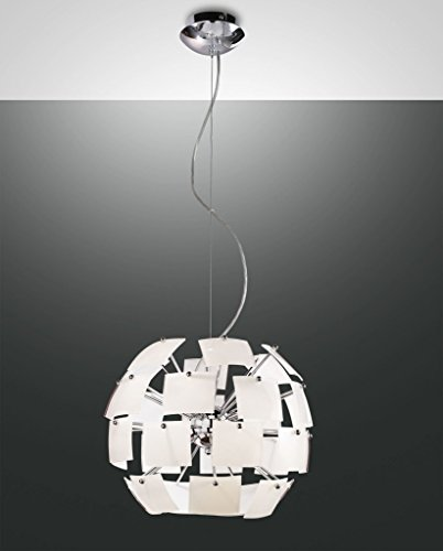 """Lámpara de techo 1-focos """"Urania"""" (cristal) Color: blanco"""