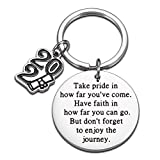 Inspirational Birthday Graduation Gifts Class 2021 Senior Students Keychain for Him Her Masters Nurse Students from College Medical High School Women Men Christmas Gifts to Daughter Son from Dad Mom