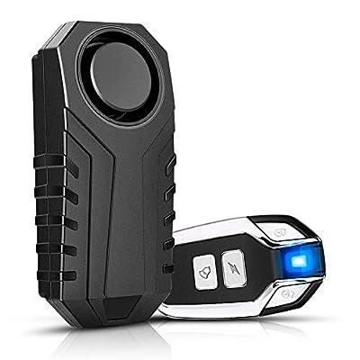 Fahrrad Alarmanlage 113 dB, YBLNTEK Drahtlose Motorrad Fahrrad Alarm Mit Fernbedienung, IP55 Wasserdicht Diebstahlsichere Vibration zubehör für e Scooter/ebike/Tür- und Fenstersicherheit