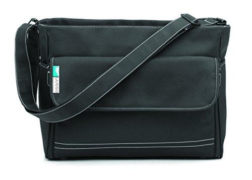 Osann Baby Pflegetasche Wickeltasche schwarz, Viel Stauraum und mobiler Wickelunterlage