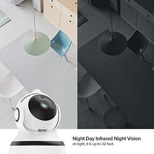 Überwachungskamera Innen WLAN Handy, 1080P FHD WLAN IP Kamera ,Nachtsicht,Bewegungserkennung,2 Wege Audio und Intelligenter Rotation Baby/Haustier/Haus