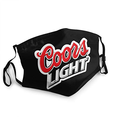 Coors Light Face Cover Reusable Bandanas Adjustable Washable Dust Guar with 5 Layers Activated Carbon Filter Face Guard Breathable Adult Dust Mouth 5 PCS