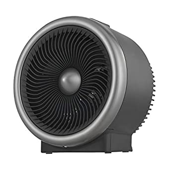 PELONIS Portable Heater with Air Circulation Fan with LED Display Cooling & Heating Mode Space Heater for All Year Around Use Tip Over & Overheat Protection,for Home Office Personal Use Black