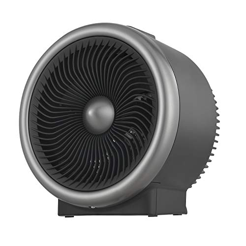 PELONIS Portable Heater with Air Circulation Fan with LED Display. Cooling & Heating Mode Space Heater for All Year Around Use, Tip Over & Overheat Protection,for Home, Office Personal Use, Black