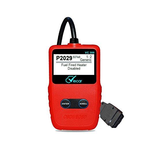 Auto OBD2 EOBD Diagnosegerät Diagnose-Scanner,Fehlerauslesegerät Überprüfen Scan Werkzeug,Auto Motor Fehlercode Leser, zum Lesen und Löschen von Fehlercodes