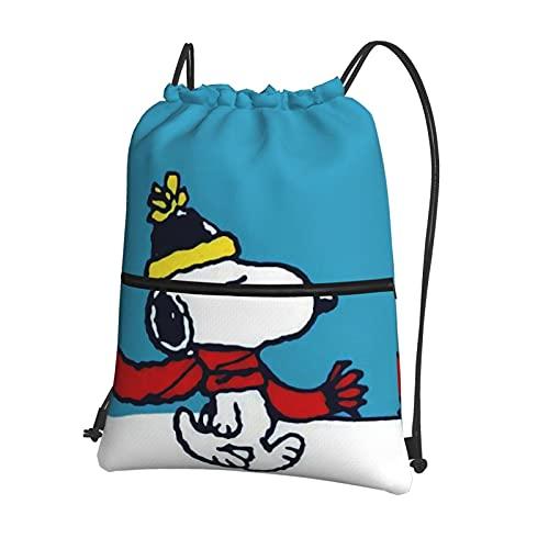 Snoo-py - Mochila deportiva con cordón para mujer, bolsa de gimnasio, bolsa de natación grande, con cremallera y bolsillos de malla, bolsa de polietileno, unisex