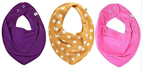 Pippi Lot de 3 foulards triangulaires pour bébé - Violet - 0-24 mois