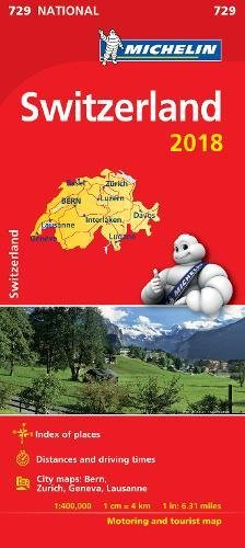 Price comparison product image Switzerland 2018: Map (Michelin National Maps)