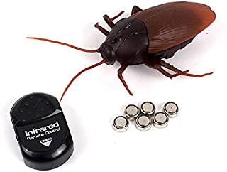 AUKMONT Remote Control Fake Toy Cockroach Powered by Batteries (Include) Trick Toys Prank Insects Joke Scary Trick Bugs