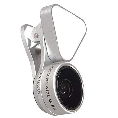 SENZHILINLIGHT Mini luz de relleno para teléfono móvil, luz de llenado de fotos, vídeo, cámara LED, luz de llenado de teléfono móvil, gran angular + macro + luz de relleno