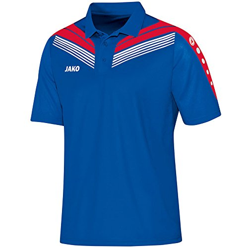 JAKO Pro Polo pour Homme XXL Royal/Rot/Weiß