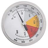 Jeanoko Acero inoxidable bimetálico de la resistencia de la vibración del termómetro de la parrilla del termómetro de la cocina para cocinar