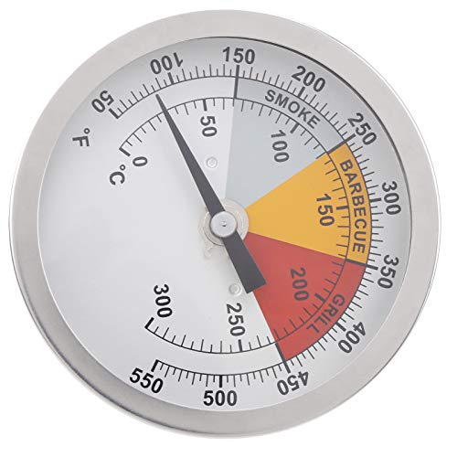 Kadimendium Termómetro de Cocina Termómetro de Parrilla Termómetro bimetálico Resistencia a la vibración Acero Inoxidable para cocinar
