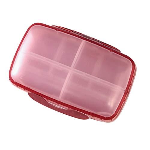 Baoblaze Wasserdicht Medikamentendosierer 7 Tage Pillendose Pillenbox Tablettendose Tablettenbox Wochendosierer - Rosa, 14,5 cm x 10 cm x 4,5 cm