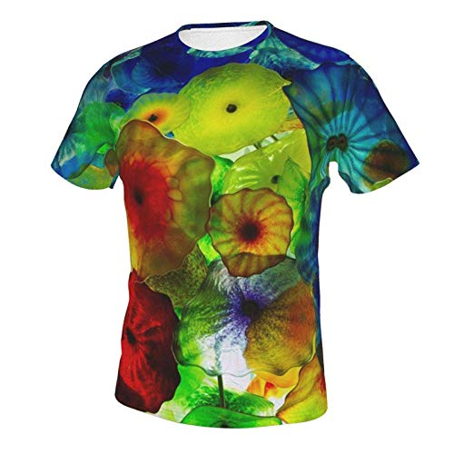 Short Sleeve Shirt Tops for Men Boys Teens Adult, Regular Big and Tall Sizes Vintage Colorful Under Sea Ocean Jellyfish 2XL
