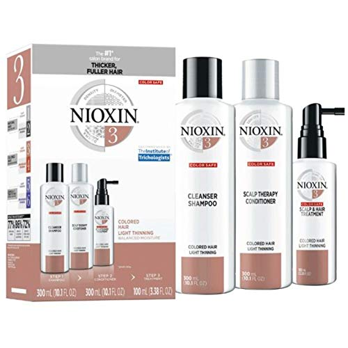 Nioxin System 3 Hair Care Kit for Colored Treated Hair with Light Thinning, 3 Count, Full Size