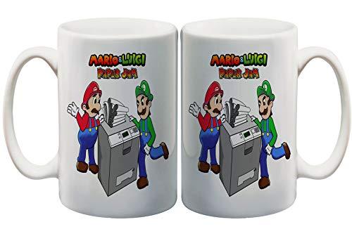 Mario Paper Jam Funny Fan 11 Oz. Custom Mug