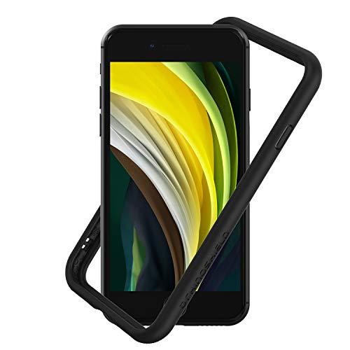 RhinoShield Bumper Case kompatibel mit [iPhone SE2 / SE (2020) / 8/7] | CrashGuard NX - Schockabsorbierende Dünne Schutzhülle 3.5 Meter Fallschutz - Schwarz