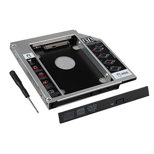 Cablecc 9,5 mm SATA 2nd HDD SSD Gehäuse Festplattenrahmen Caddy Case Tray Tray Tray für Laptop CD DVD ROM Optical Bay Drive Slot