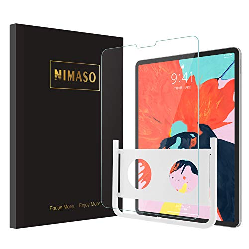 【ガイド枠付き】Nimaso iPad Pro 11 ガラスフィルム 液晶保護フィルム 強化ガラス 高感度/高硬度/高透過率【1枚セット】