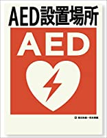 小松プロセス 蓄光式 建災防統一安全標識 『AED設置場所』 ステッカー 400 mm×300 mm