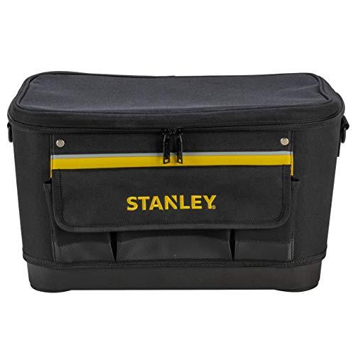 Stanley 1-96-193 Rangement d'Outils Sac À Outils Rigide pour Un maintien du Volume - 44.7 x 26.2 x 25.1 cm - Base Rigide Résistante À l'Eau - multi Compartiments - Sangle Bandoulière