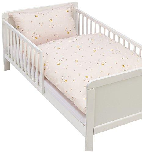 Kindertraum 5255323 Parure de lit pour enfant Motif étoiles magiques Rose 40 x 60 cm et 100 x 135 cm