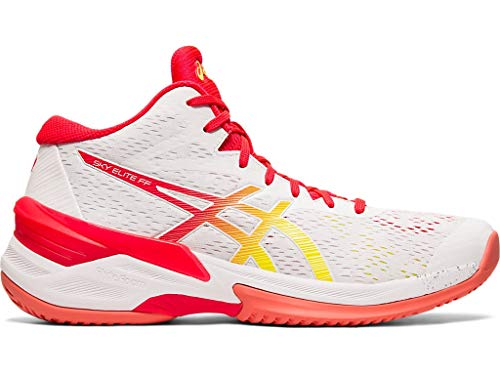 ASICS Women's Sky Elite FF MT Court Shoes, 8.5M, White/Laser Pink