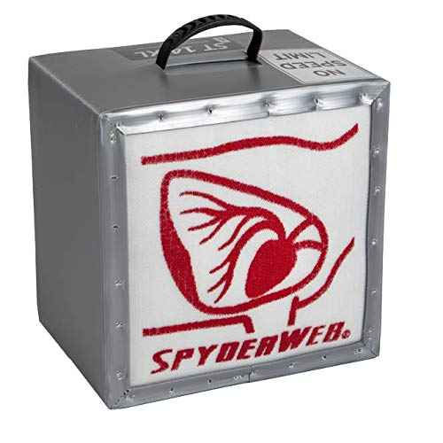 SpyderWeb ST-14XL High-Density No Speed Limit Archery and Crossbow Target |Over 500 FPS| Easy Arrows Pull| Field Tips|14 x 14 x 13 inches| 22 Pounds