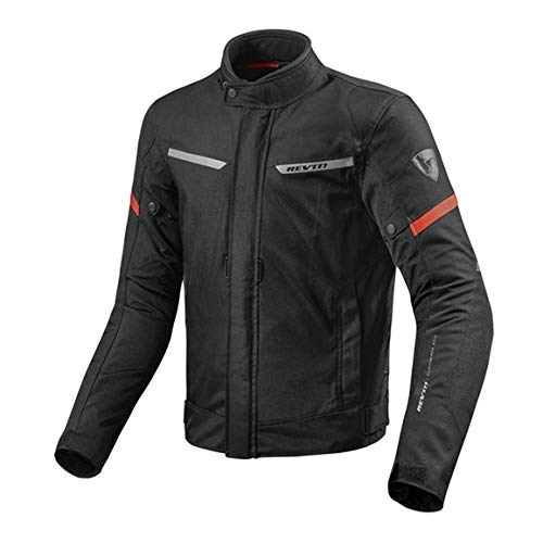 Revit Giacca Tour Giacca Motociclista Lucida Impermeabile - nero rosso, XYL
