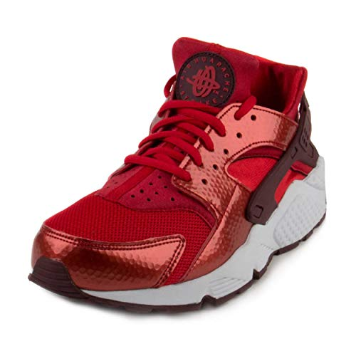 Nike Womens Air Huarache Run University Red/Maroon-White Mesh Size 7