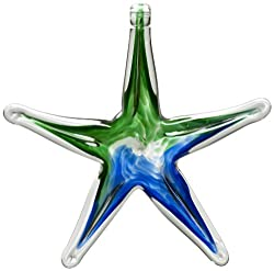 Kitras Glass blue green starfish