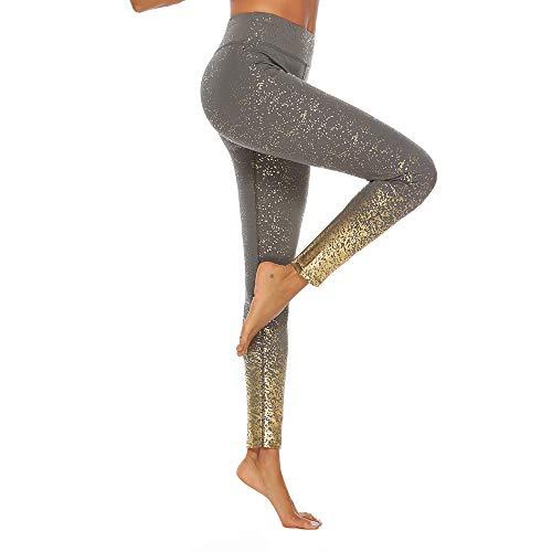 Weant Hosen Damen Sport Leggings Yoga Hose Laufhose mit Muster High Waist Yoga Leggings Frauen Jogginghose Hüfthose Strumpfhose Trainingshose Gym Laufen Yoga Sporthose Work Leggings
