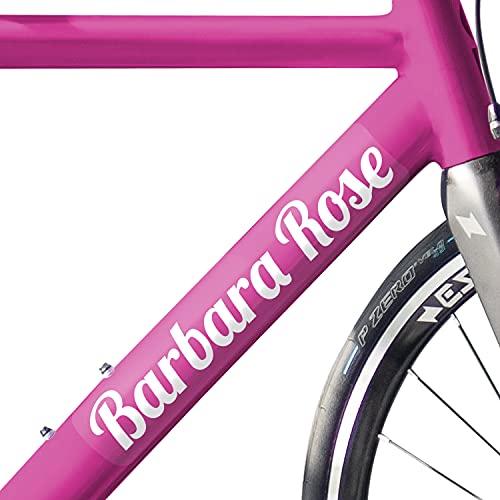 Haberdashery Online Pegatinas Personalizadas para tu Bici y Casco. 2 Etiquetas Adhesivas con tu Nombre para Bicicleta, Patinete, monopatín + 2 Stickers para Accesorios Ciclistas