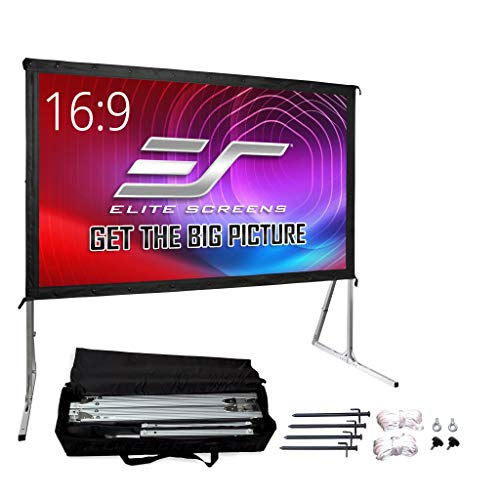 Elite Screens Yard Master 2, 120-inch Outdoor Indoor Projector Screen with Stand 16:9, Fast Easy Snap On Set-up Freestanding Portable Movie Theater Cinema Foldable Front Projection 120"