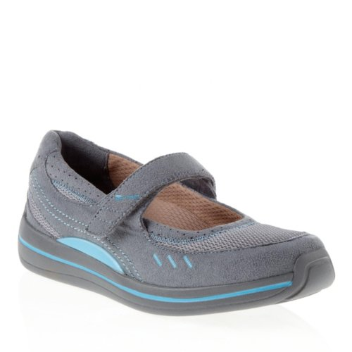 Drew Shoe Women's Bailey Mary Janes,Gray,5 M