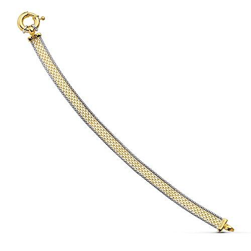 Alda Joyeros Pulsera de Mujer Oro Bicolor 18k Maille d'or
