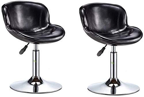 SXRDZ Barhocker Cafe Lounge Chair Massage Pneumatik Hydranic Rolling Massage Klinische Spa Tattoo Büro Swivel Hocker mit Rückenlehne (Farbe: rot) (Color : Black)