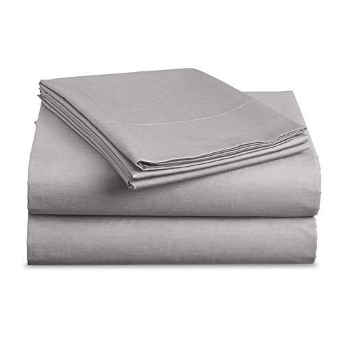 BASIC CHOICE Brushed Microfiber Bed Sheet Set, Gray, Twin, 3 Pieces