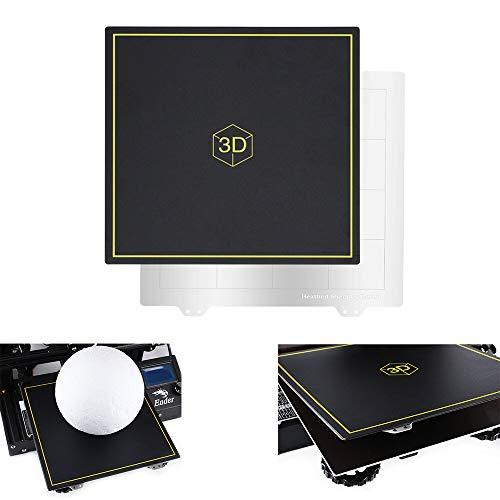 ZJYSM 235 * 235mm Pliant Magnetic Platform Sticker+Spring Steel Het Bed Plate For CR-10/Tornado 3D Printer