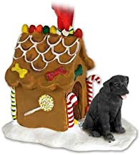 Black Lab Labrador Retriever Gingerbread House Christmas Ornament