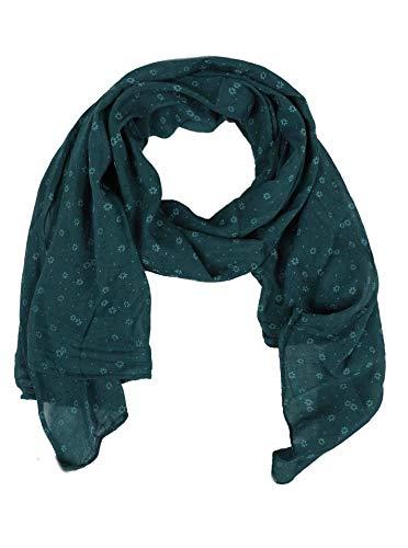 Seiden-Tuch Damen Blumen Muster - Made in Italy - Eleganter Sommer-Schal für Frauen - Hochwertiges Seidentuch / Seidenschal - Halstuch und Chiffon-Stola stilvolles Muster von Zwillingsherz grün