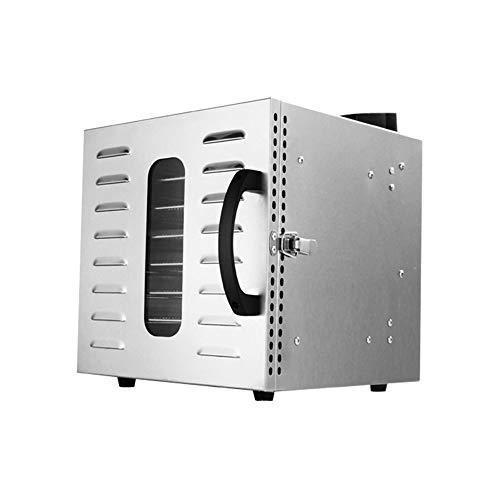 Kacsoo Deshidratador de alimentos de 8 bandejas, máquina secadora de alimentos de acero inoxidable, ajuste de temperatura de 30~90 ° C, de 24 horas, panel inteligente LED