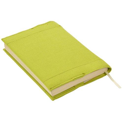 Kuaiブックカバー文庫サイズ16×24cmカラフルシンプルプレーン(ライトグリーン)