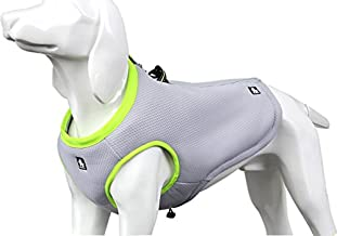 SGODA Dog Cooling Vest Harness Cooler Jacket Grey Green Large