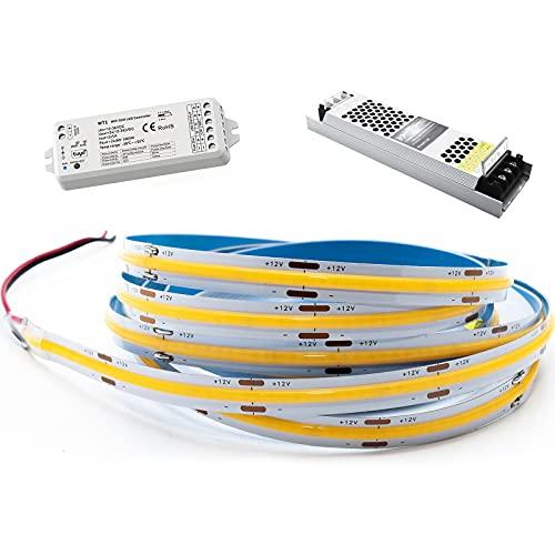 Kit de tira LED 5 m 70 W Smart Controlador 12 V RF WiFi dimmer alimentador 100 W WiFi APP Alexa Google luz interior
