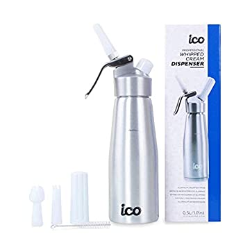 Professional Whipped Cream Dispenser for Delicious Homemade Whipped Creams Sauces Desserts and Infused Liquors - uses 8g N2O cartridges  500ml 1 Pint …