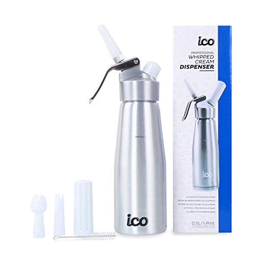 Impeccable Culinary Objects (ICO) Sifón de Cocina Profesional Para Espumas y Nata (500ml, Aluminio)