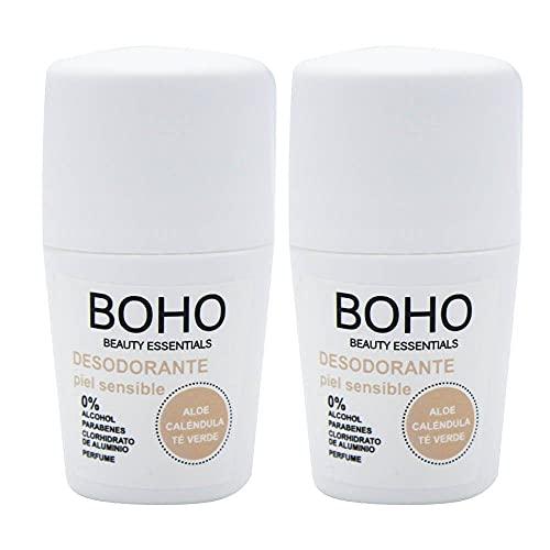 BOHO Desodorante Piel Sensible Bio 50ml, 2 Unidades